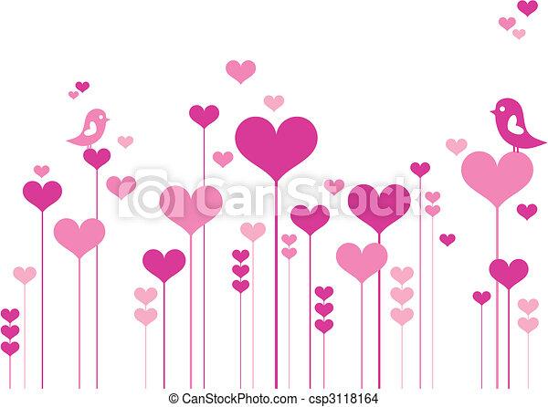 menstruáció, szív, madarak - csp3118164