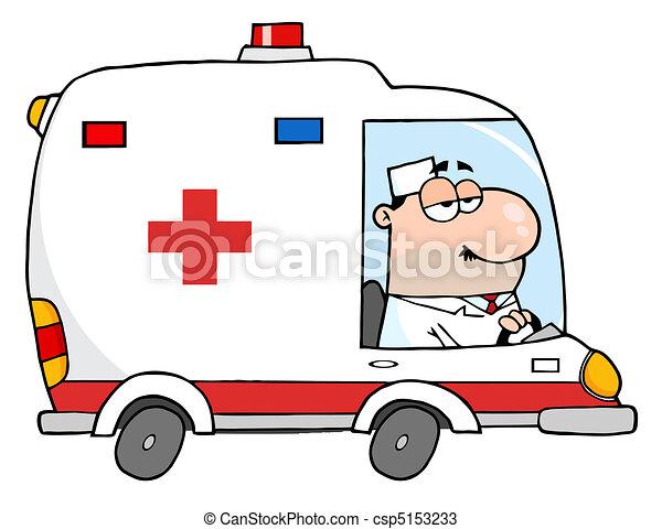 mentőautó, orvos, vezetés - csp5153233