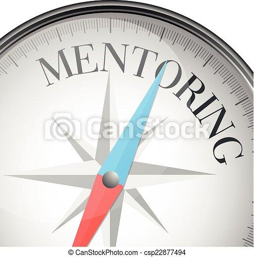 mentoring, iránytű - csp22877494