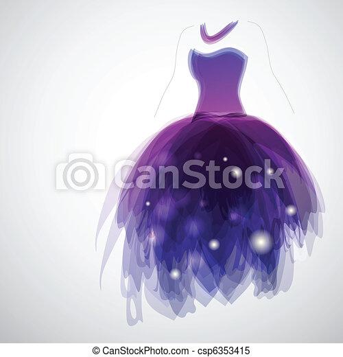 menyasszony, ruha - csp6353415