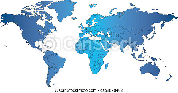 mercator, világ, országok, térkép - csp2878402