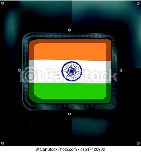 metalic, india lobogó, háttér - csp47420902