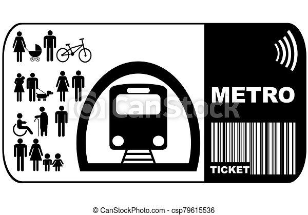 metró, háttér, elszigetelt, cédula, fehér - csp79615536