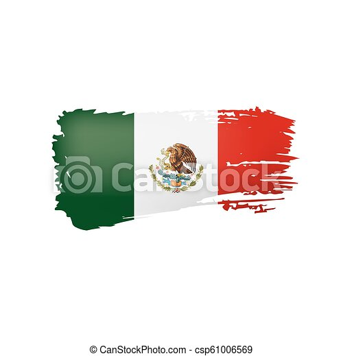 mexican lobogó, ábra, háttér., vektor, fehér - csp61006569