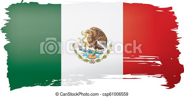 mexican lobogó, ábra, háttér., vektor, fehér - csp61006559