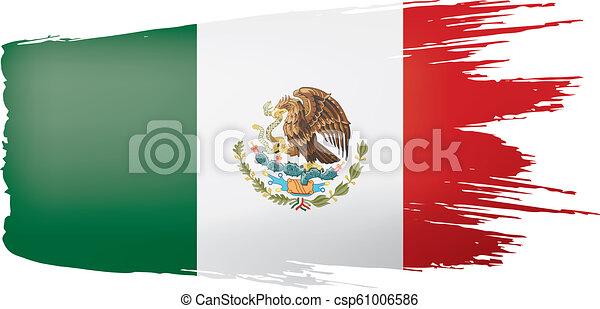 mexican lobogó, ábra, háttér., vektor, fehér - csp61006586