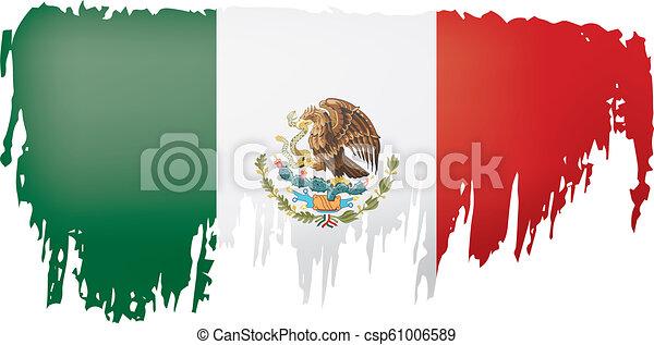 mexican lobogó, ábra, háttér., vektor, fehér - csp61006589
