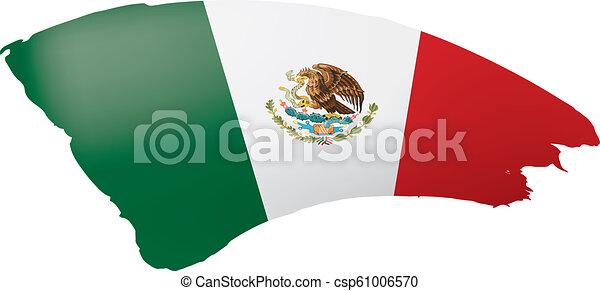 mexican lobogó, ábra, háttér., vektor, fehér - csp61006570