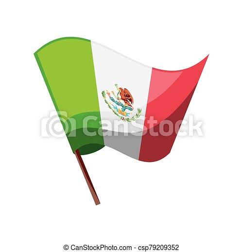 mexikói, white lobogó, háttér - csp79209352