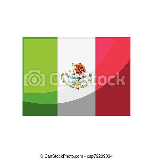 mexikói, white lobogó, háttér - csp79209034