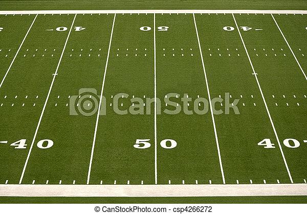 mező, amerikai futball, üres - csp4266272