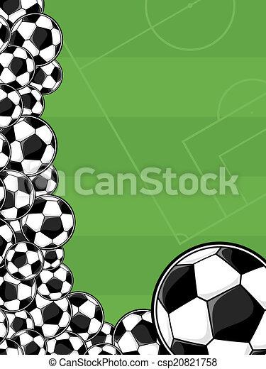 mező, futball, játék, háttér - csp20821758