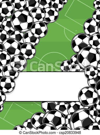 mező, futball, játék, háttér - csp20833948
