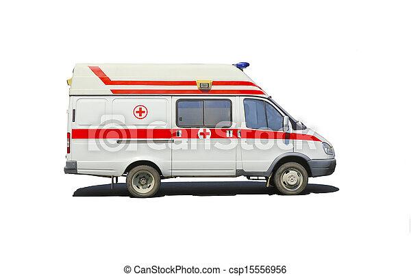 minibusz, elszigetelt, mentőautó - csp15556956