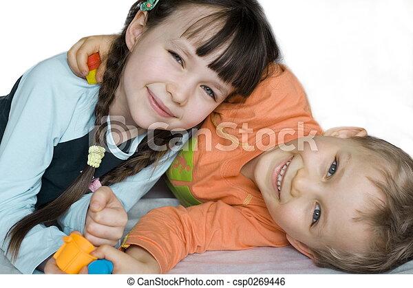 mosolygós, gyerekek - csp0269446