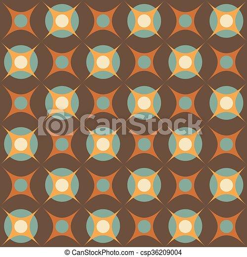 motívum, elvont, geometriai, retro - csp36209004