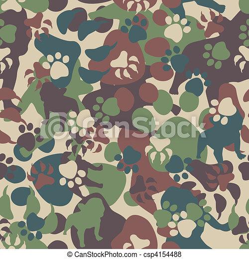 motívum, kutya, álcáz - csp4154488