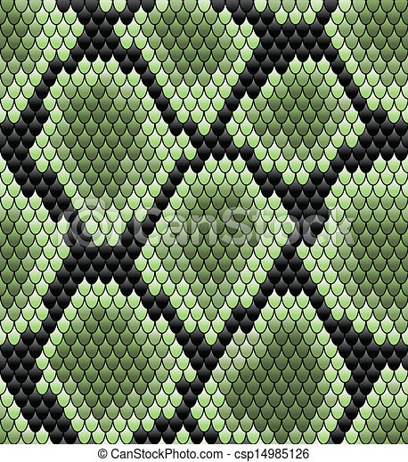 motívum, zöld, seamless, kígyó bőr - csp14985126