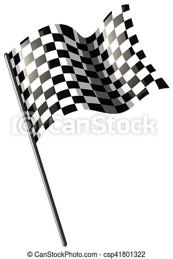 motokrossz, lobogó, versenyzés, fehér - csp41801322