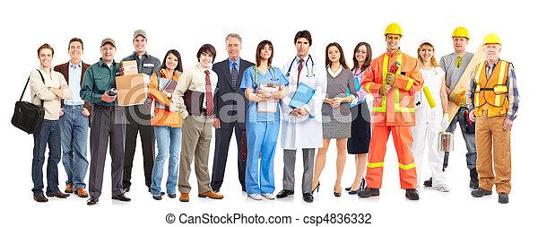 munkás, emberek - csp4836332