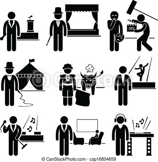 munka, művész, szórakozás, foglalkozás - csp16804659