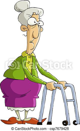 nő, öreg - csp7679428