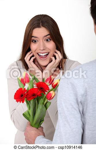 nő, felfogó, neki, menstruáció, meglepődött, barát - csp10914146