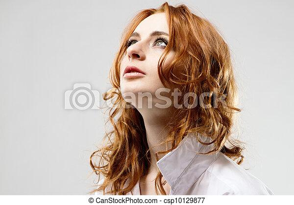 nő, fiatal, gyönyörű - csp10129877
