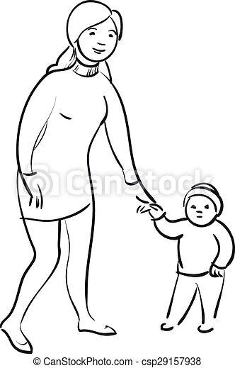 nő, gyermek - csp29157938