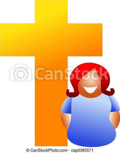 nő, keresztény - csp0365571