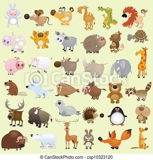 nagy, állhatatos, karikatúra, állat - csp10323120