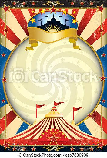 nagy tető, cirkusz, poszter - csp7836909