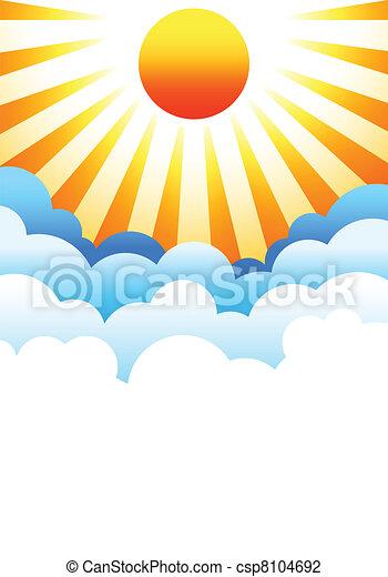 nap, elhomályosul, felül, felkelés - csp8104692