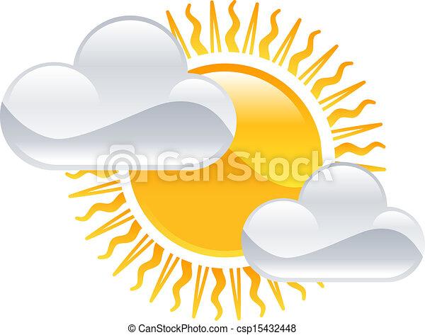 nap, időjárás, elhomályosul, clipart, ikon - csp15432448