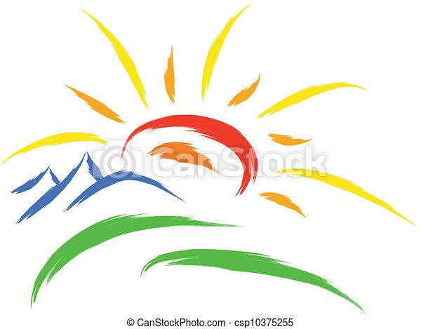 nap, jelkép, természet - csp10375255