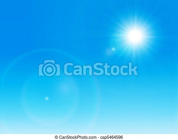 nap, tiszta égbolt - csp5464596