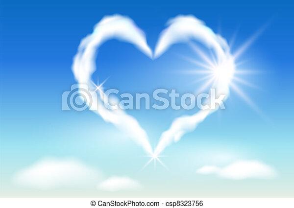napfény, felhő, szív - csp8323756