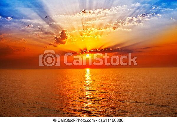 napkelte, tenger - csp11160386
