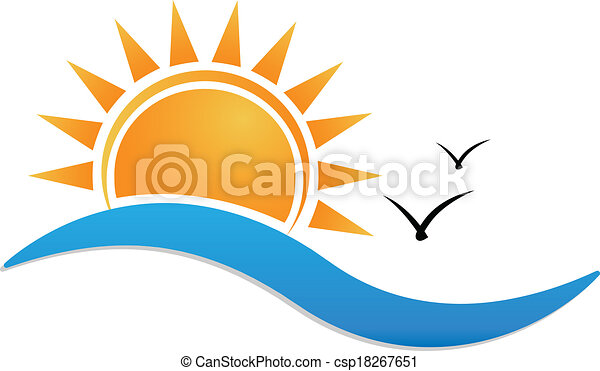 naplemente tengerpart, jel - csp18267651