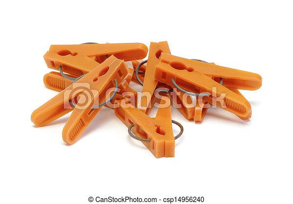 narancs, műanyag, ruhaszárító csipeszek - csp14956240