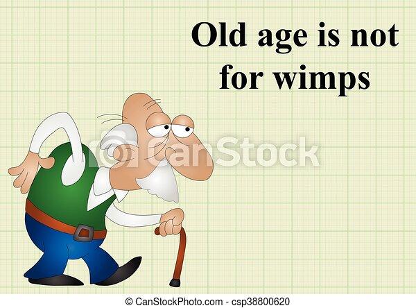 nem, életkor, öreg, wimps - csp38800620