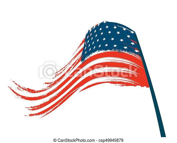 nemzeti, ábra, stilizált, háttér., lobogó, fehér - csp49945879