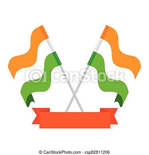 nemzeti, háttér, india, zászlók, white szalag, zászlók - csp82811206