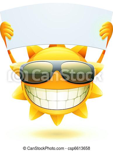 nyár, boldog, nap - csp6613658