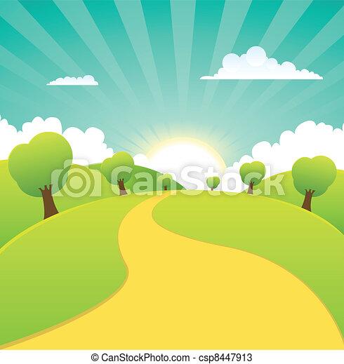 nyár, eredet, vidéki, fűszerezni, vagy, táj - csp8447913