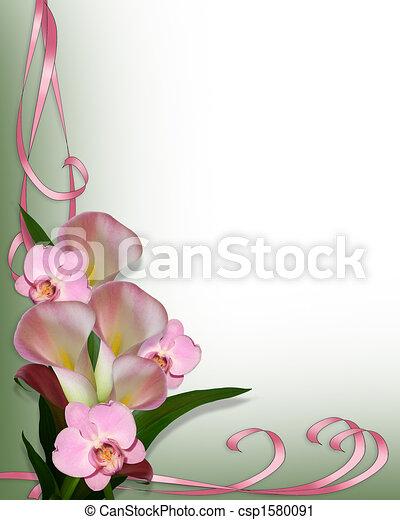 orhideák, calla, határ, liliomok - csp1580091