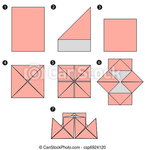 origami, jottányi, tervezés, épít, csónakázik - csp6924120