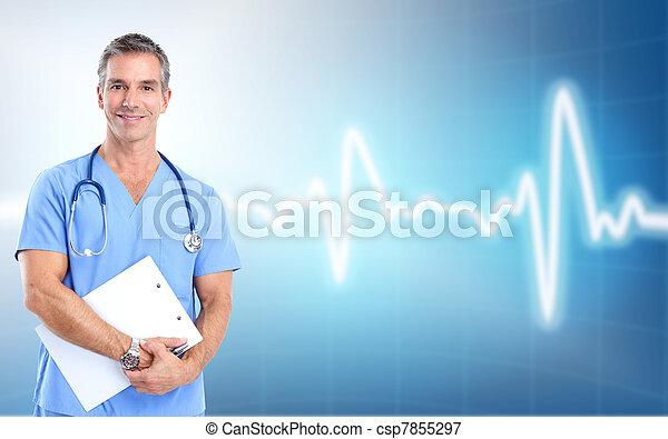 orvosi, cardiologist., egészség, care., orvos - csp7855297