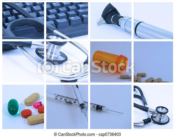 orvosi collage - csp0736403