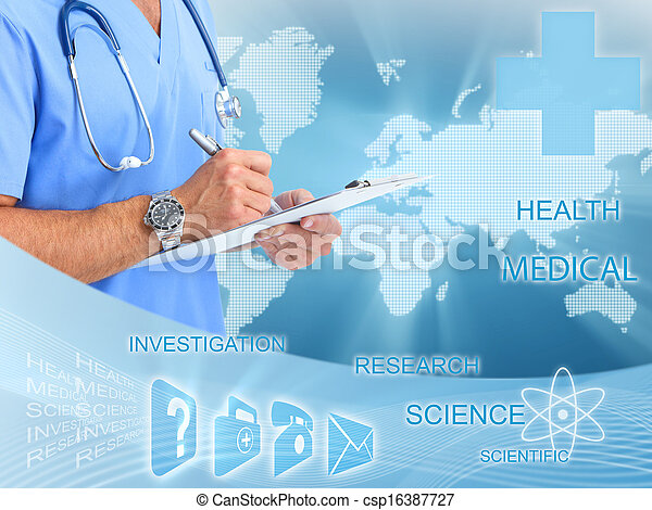 orvosi, orvos., kézbesít - csp16387727
